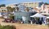 Base de operações na Praia do Vau, na primeira edição do Vau Challenge (®PauloMarcelino/arquivo)
