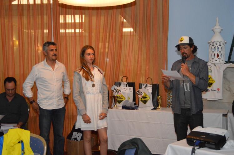 Das quatro atletas apuradas para a final nacional Sub-18 Feminino apenas Concha Balsemão esteve na gala (®paulomarcelino)