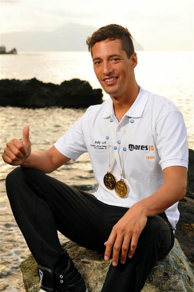 Jody Lot é multicampeão de pesca submarina. Este ano é Grau Ouro pelo bom resultado no Campeonato Euro-Africano (®DR)