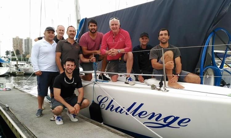 Tripulação do Challenge, com Luís Brito à direita (®DR)