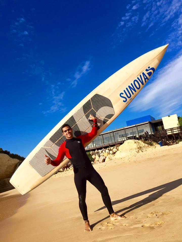 Tiago Dinis, team rider Sunova, é aposta do Albufeira Surf Clube para a conquista do título nacional SUP Race (®Sunova)