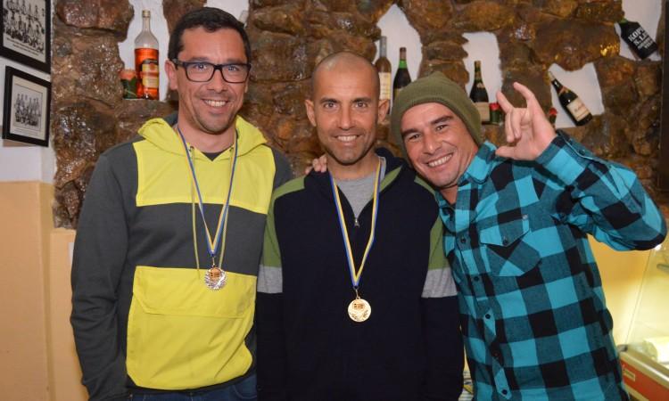 Pódio Masters, incompleto: Tiago Costa, Miguel Marinho e Fernando Maria (®PauloMarcelino)