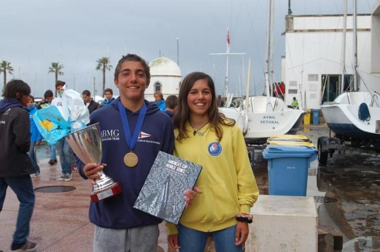 Manuel Ramos e Beatriz Gago, Campeões de Portugal de Juvenis 2016 (®FPV)