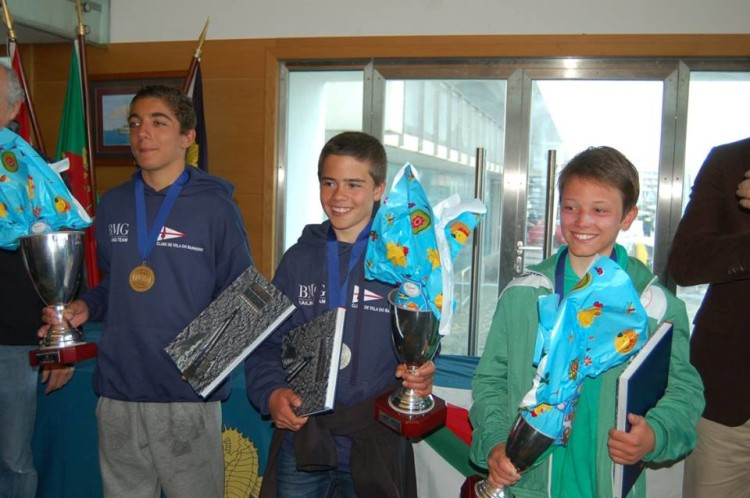 Boys Podium with William Risselin from the Algarve wearing the green jersey (®FPV)