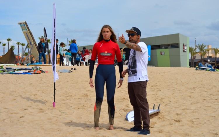 Concha Balsemão vai estar nas três finais femininas a disputar, domingo, na Praia da Rocha (®PauloMarcelino)