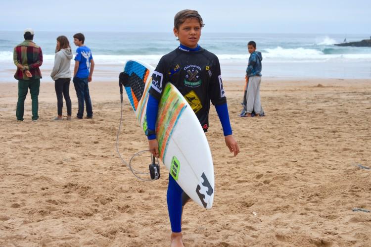 João Mendonça, 11 anos, está nas meias-finais Sub-16 e passou uma ronda Open, sendo depois eliminado nos quartos-de-final (®PauloMarcelino)