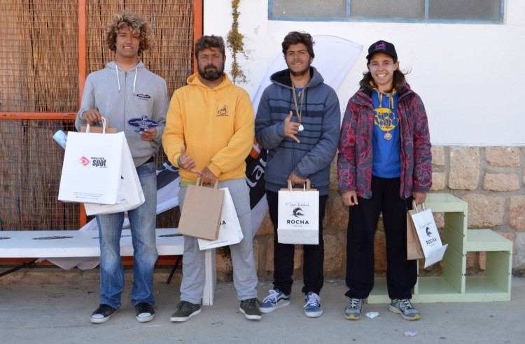 Pódio Longboard 3ª Etapa CRSSul 2016, Praia da Rocha (®PauloMarcelino)