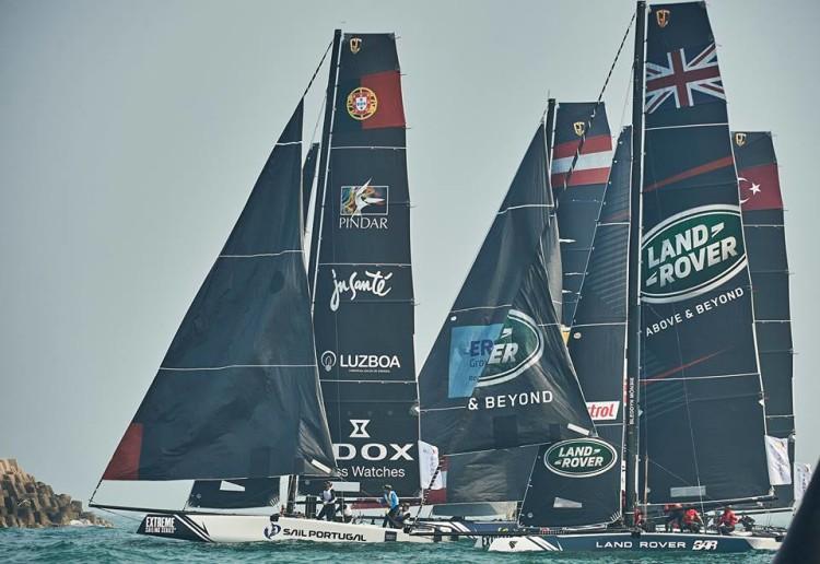 Equipa portuguesa integrou na China um novo tripulante e andou em lugares de pódio até ao último dia (®ExtremeSailingSeries)
