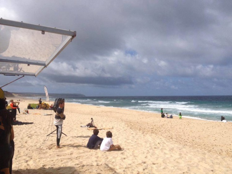 Aspeto da Praia da Lagoa de Albufeira no dia da prova (®SCS)