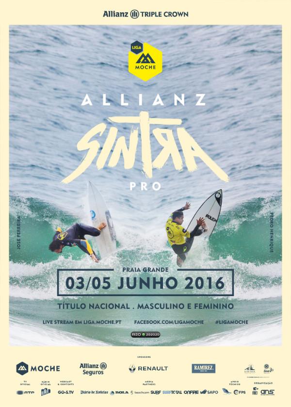 José Ferreira e Pedro Henrique são os surfistas que figuram no cartaz do Allianz Sintra Pro (®ANS)