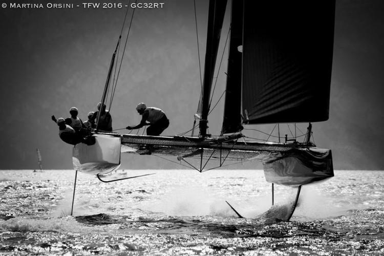 GC32 Mamma Aiuto Sailing Team a planar no Lago Garda com algarvio Luís Brito a bordo (®MartinaOrsini)