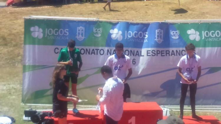 Luís Simão (GDAlcoutim), vice-campeão nacional de canoagem Esperanças 2016 em C1 Cadete (®DR)