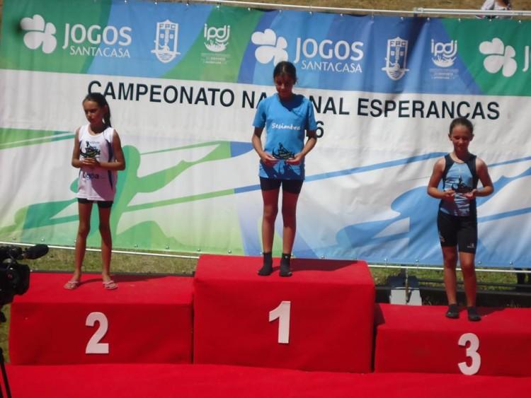 Maria Santos Costa (AADMCarregação), vice-campeã nacional de canoagem Esperanças 2016 em K1 Menor Feminino (®DR)