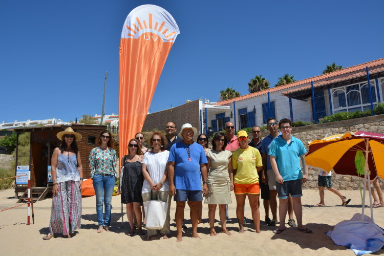 Praia do Vau também já tem bandeiras de sinalização iUV (®DR)