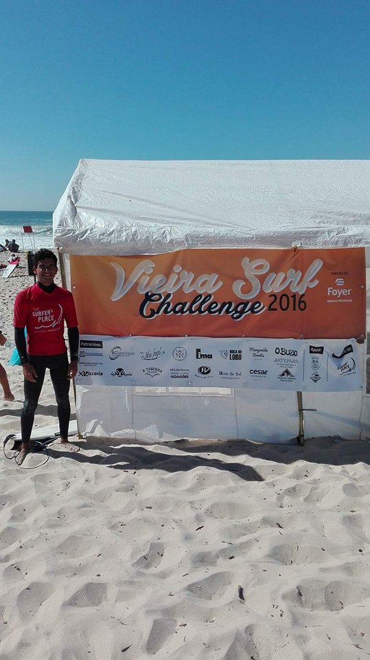 Surfista algarvio deu espetáculo na Praia da Vieira (®DR)
