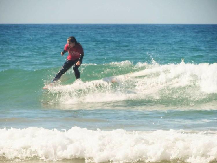 Inês Martins, 1ª classificada Longboard Feminino (®MariaInesMestre)