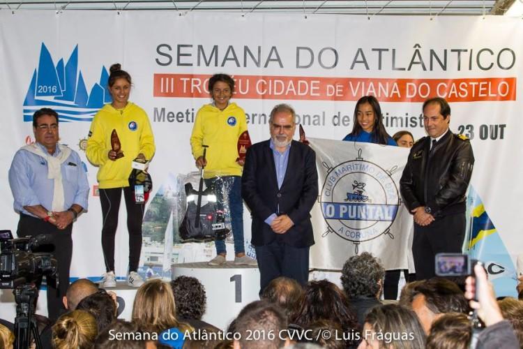 Algarvias Beatriz Cintra e Beatriz Gago no 1º e no 2º lugar do pódio Grupo A Feminino, uma 'dobradinha' portimonense (®CVVianaCastelo)
