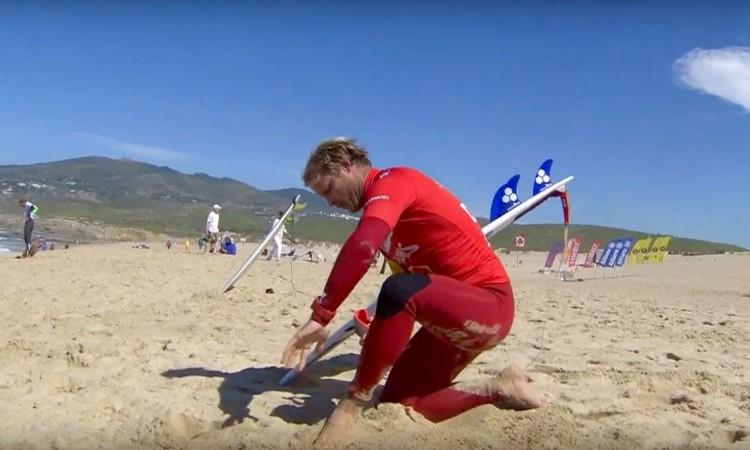 Marlon Lipke é um dos surfistas que pode terminar a etapa como campeão nacional (®screenshot)