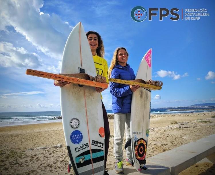 Mafalda Lopes (Sub-18), à esquerda; e Francisca Veselko (Sub-16) são as Campeãs Nacionais Esperanças 2016 (®FPS)