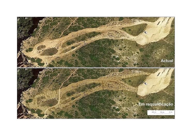 Arriba fóssil no Geossítio do Telheiro | Antes (®GPT)
