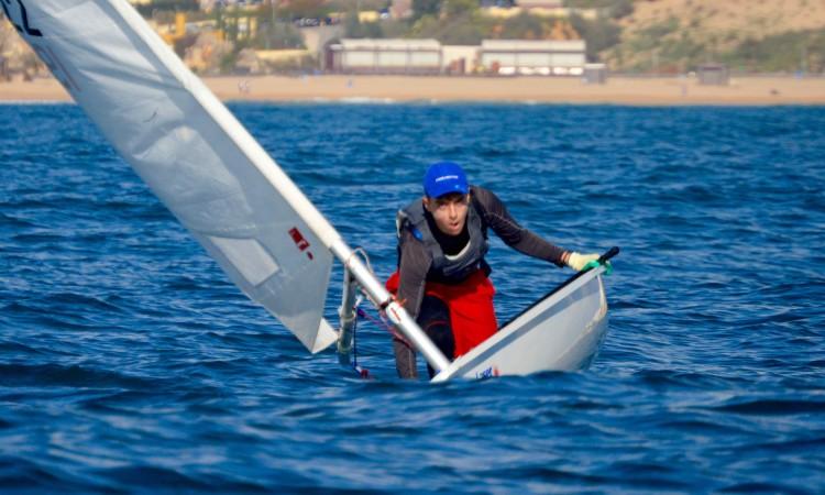 João Vargues, do Ginásio Clube Naval de Faro, liderava os 4.7 mas caiu para 3º no último dia (®PauloMarcelino)
