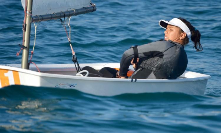 Beatriz Gago é Campeã de Portugal e tem o melhor 'ranking' português de Optimist, entre todos os velejadores ativos na Classe (®PauloMarcelino/Arquivo)