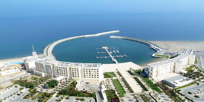 Marina de Mussanah, em Omã, a morada da velejadora algarvia durante esta semana (®DR)
