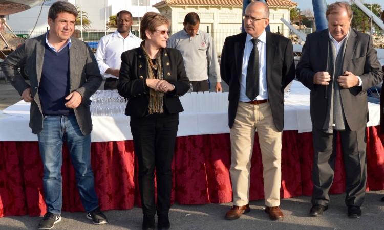 Nuno Reis, Isolete Correia, Vítor Aleixo e Desidério Silva na cerimónia de apresentação do projeto (®PauloMarcelino)