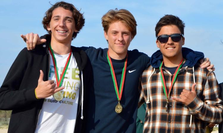 Pódio Surf Juniores incompleto, falta 4º classificado (®PauloMarcelino)