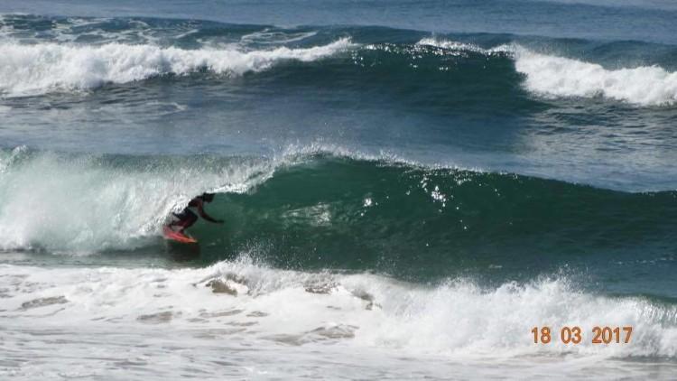 Moreno Lelis fez, sábado, a melhor onda do campeonato (®DR)