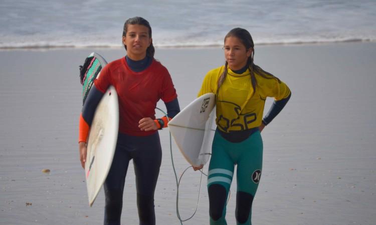 Inês Carvalho e Joana Carvalho, duas das meninas SLF que estão a dominar as categorias Esperanças femininas no Sul (®PauloMarcelino)
