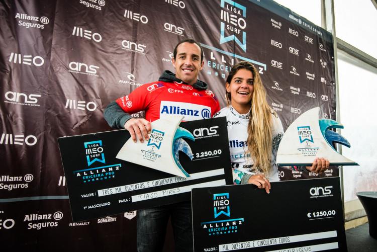Tiago Pires e Carol Henrique, os vencedores da etapa (®PedroMestre/ANS)