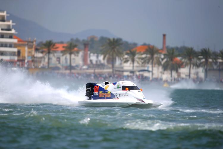 Duarte Benavente em plena corrida. Português só garantiu o 3º lugar a 4 voltas do fim (®Simon Palfrader©)