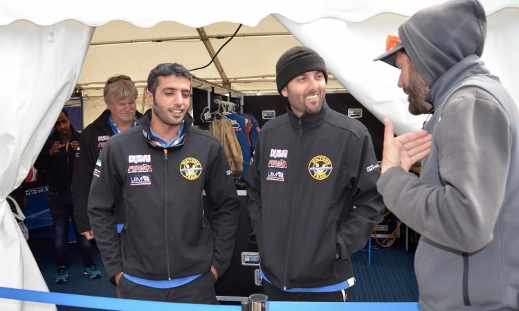 Ahmed Al Hameli e Shaun Torrente, da Victory Team, falam aos jornalistas (®PauloMarcelino)