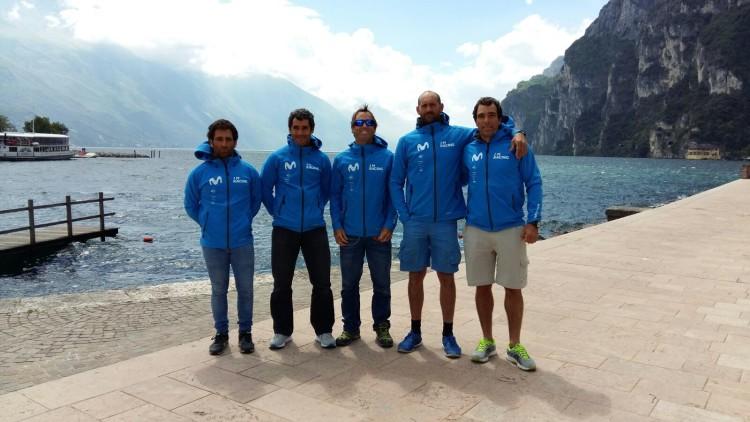Equipa I'M Racing Movistar, com o português Luís Brito, à direita (®DR)