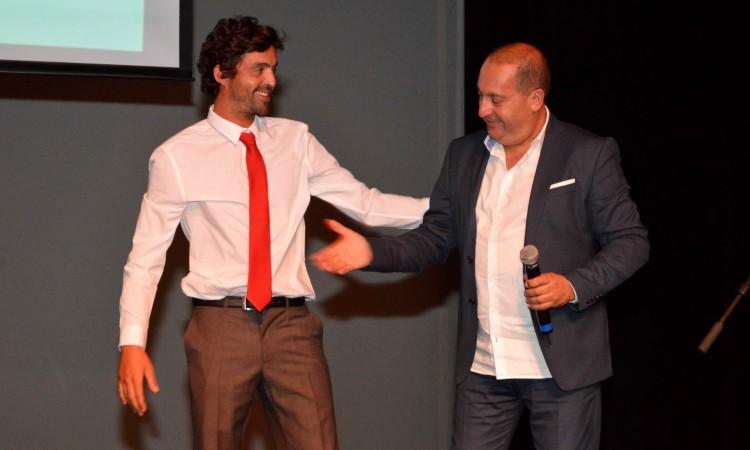 Presidente do Portimão Surf Clube e o diretor do IPDJ-Faro (®PauloMarcelino)