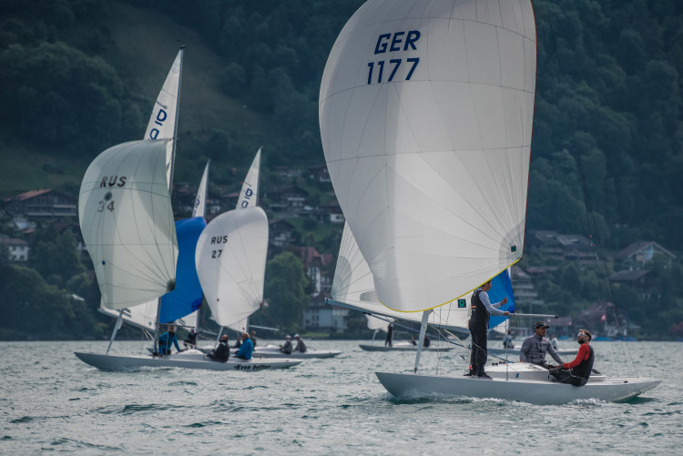 Tripulação comandada pelo algarvio Pedro Andrade participou no Europeu com a vela GER 1177 (®DR)