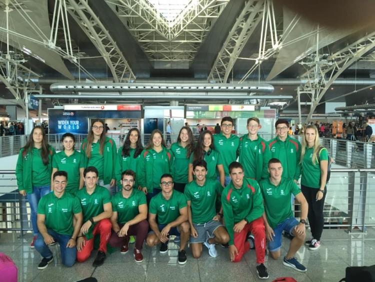 Equipa nacional Portuguesa para a Regata Internacional Olympic Hopes (®DR)