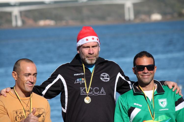 Nuno Silva, 'o castor Alfa de Lagoa, no 1º lugar do pódio Veterano A (®KCCA)